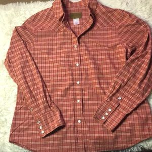 Pendleton pearl snap plaid button up